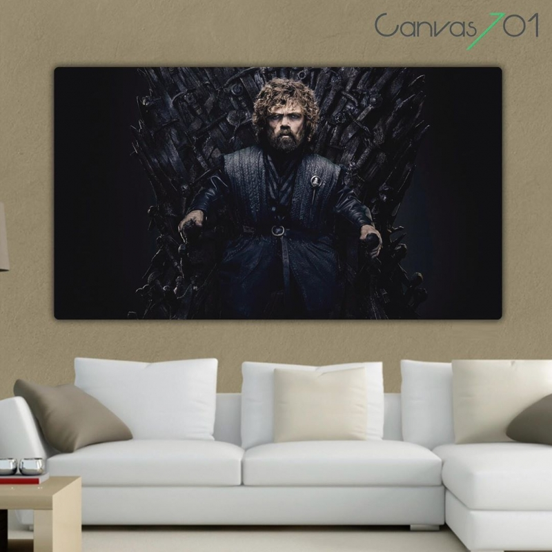 Game of Thrones Tyrion Lannister Taht - GOT Kanvas Tablo