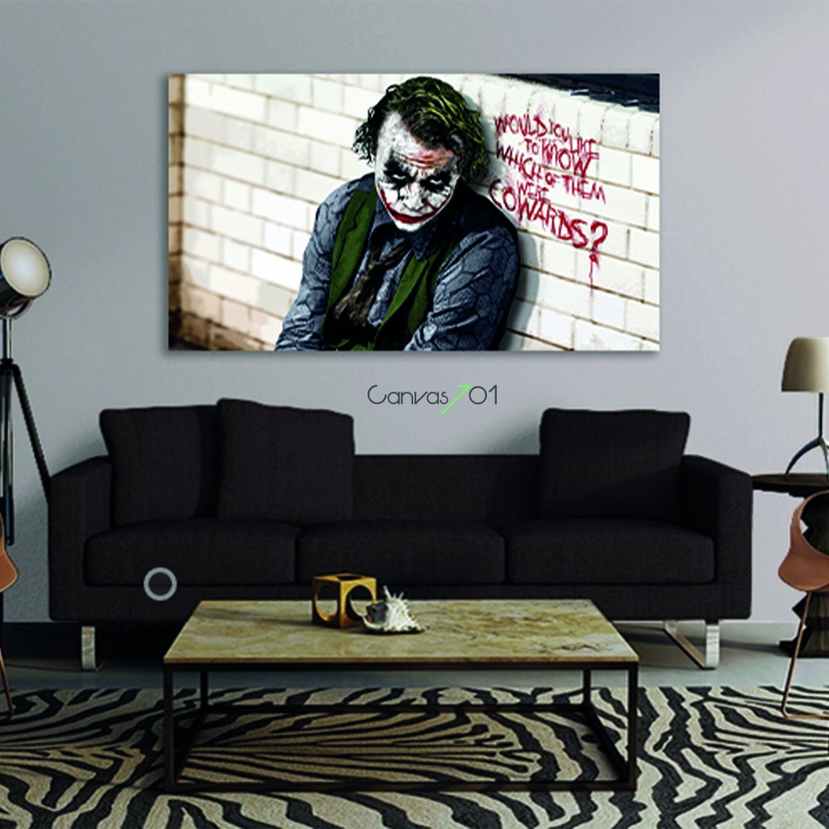 Joker Karakter Canvas Tablo