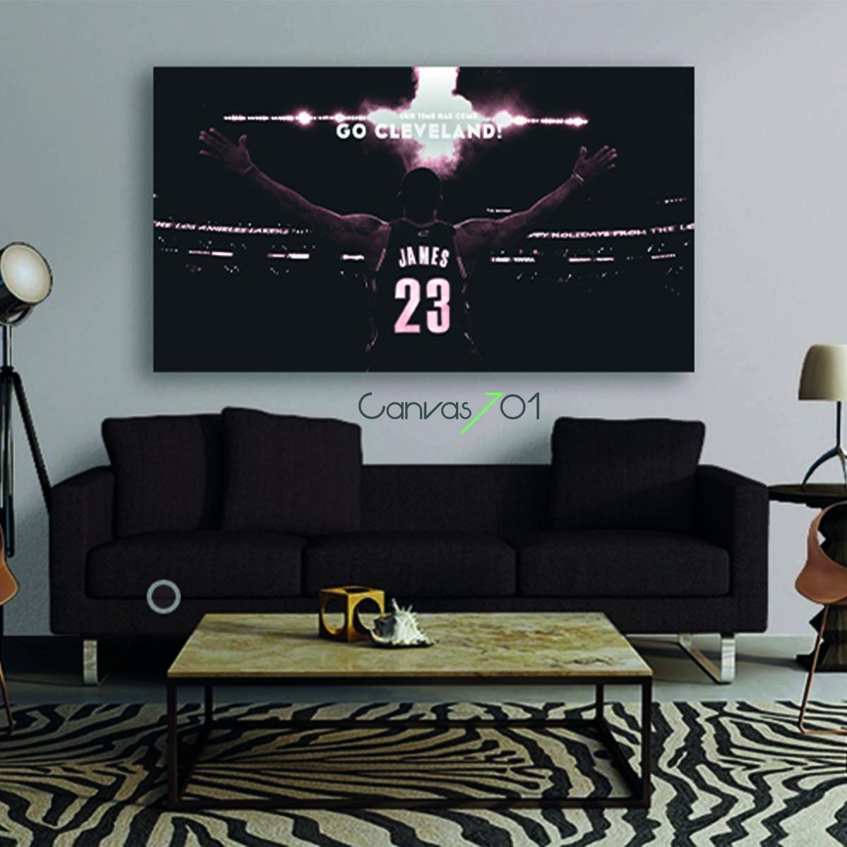 Lebron James Canvas Tablo