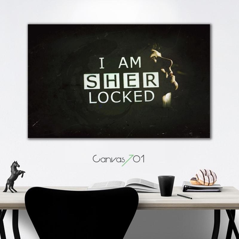 Sherlock Kanvas Tablo