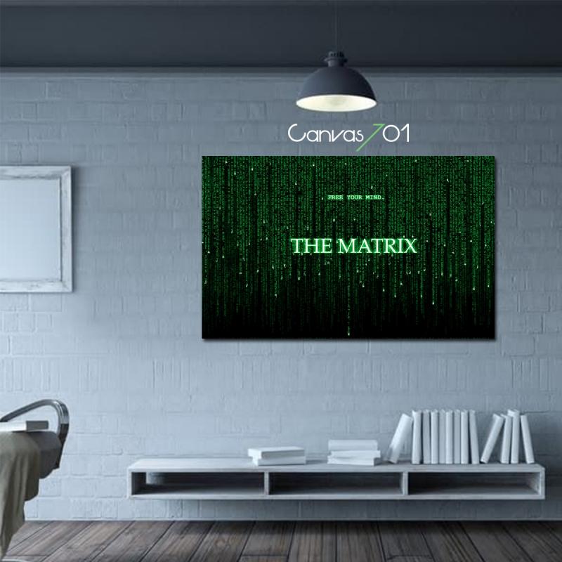 Matrix Kod Kanvas Tablo