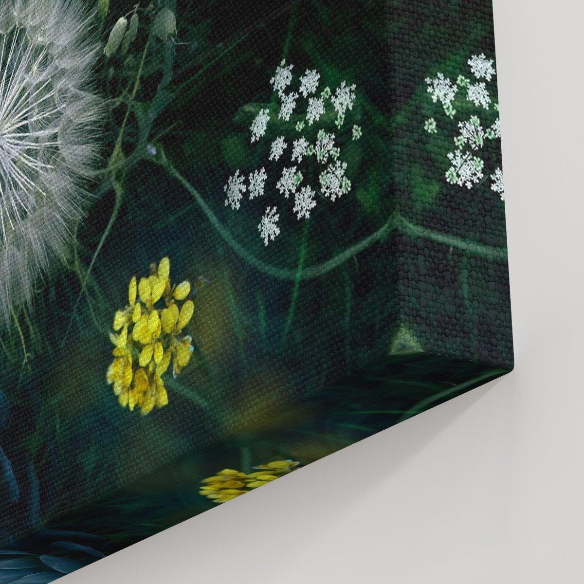 Toz Çiçek Kanvas Tablo