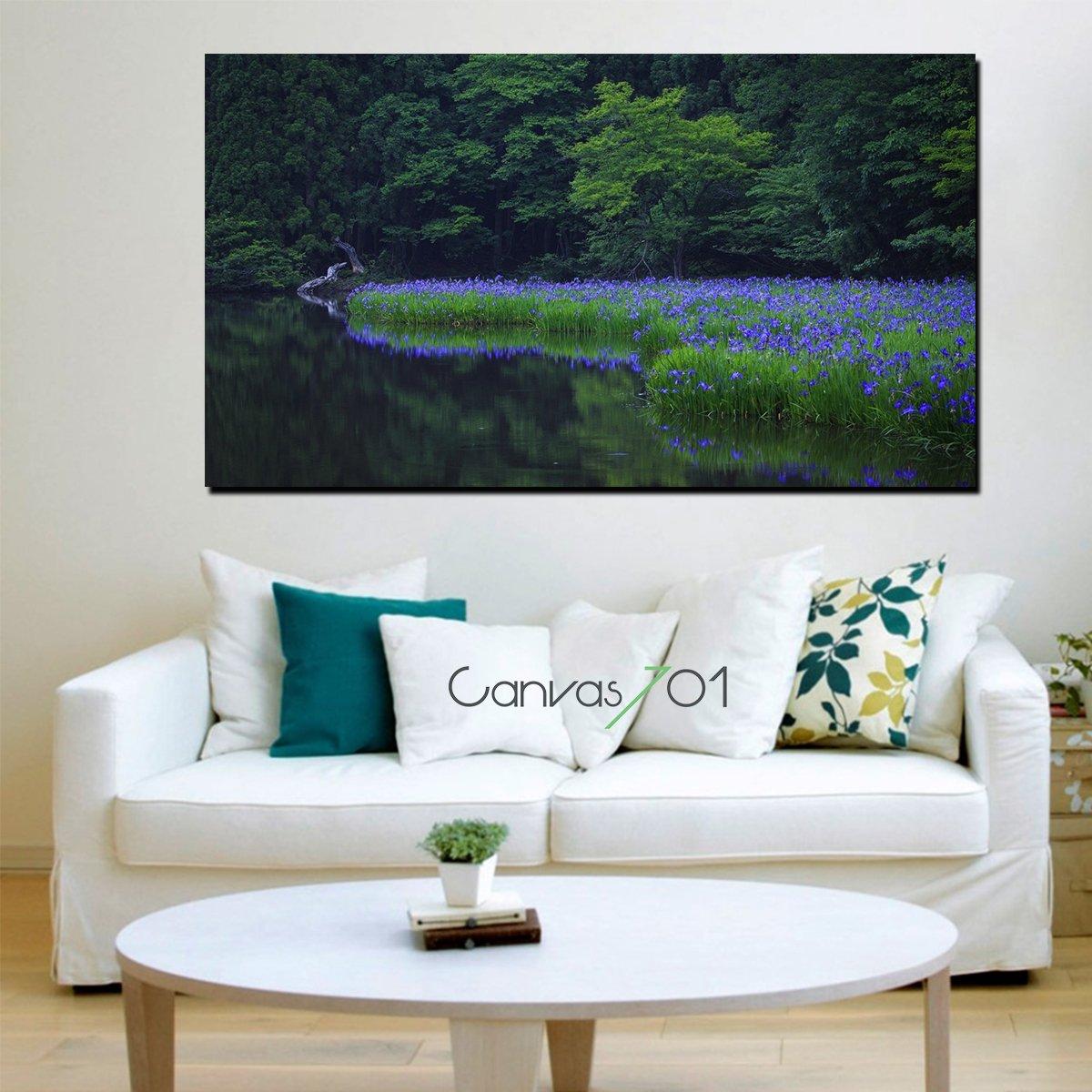 Çiçekli Orman Kanvas Tablo