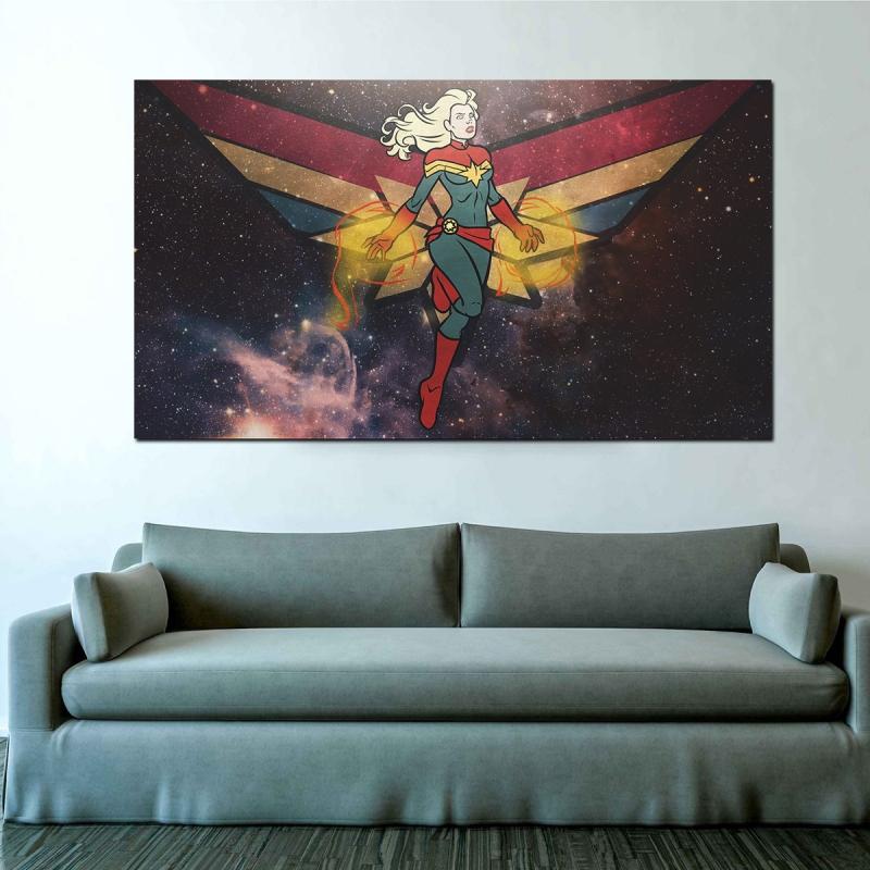 Süper Kadın Kanvas Tablo