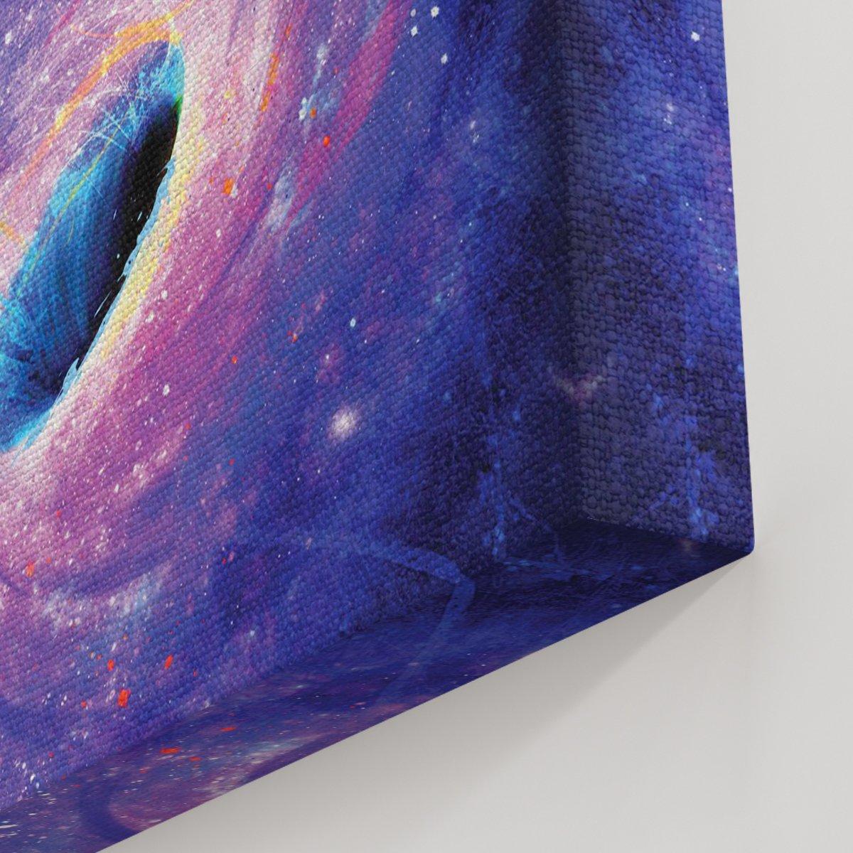 Uzay Boşluğunda Bir Astronot Kanvas Tablo