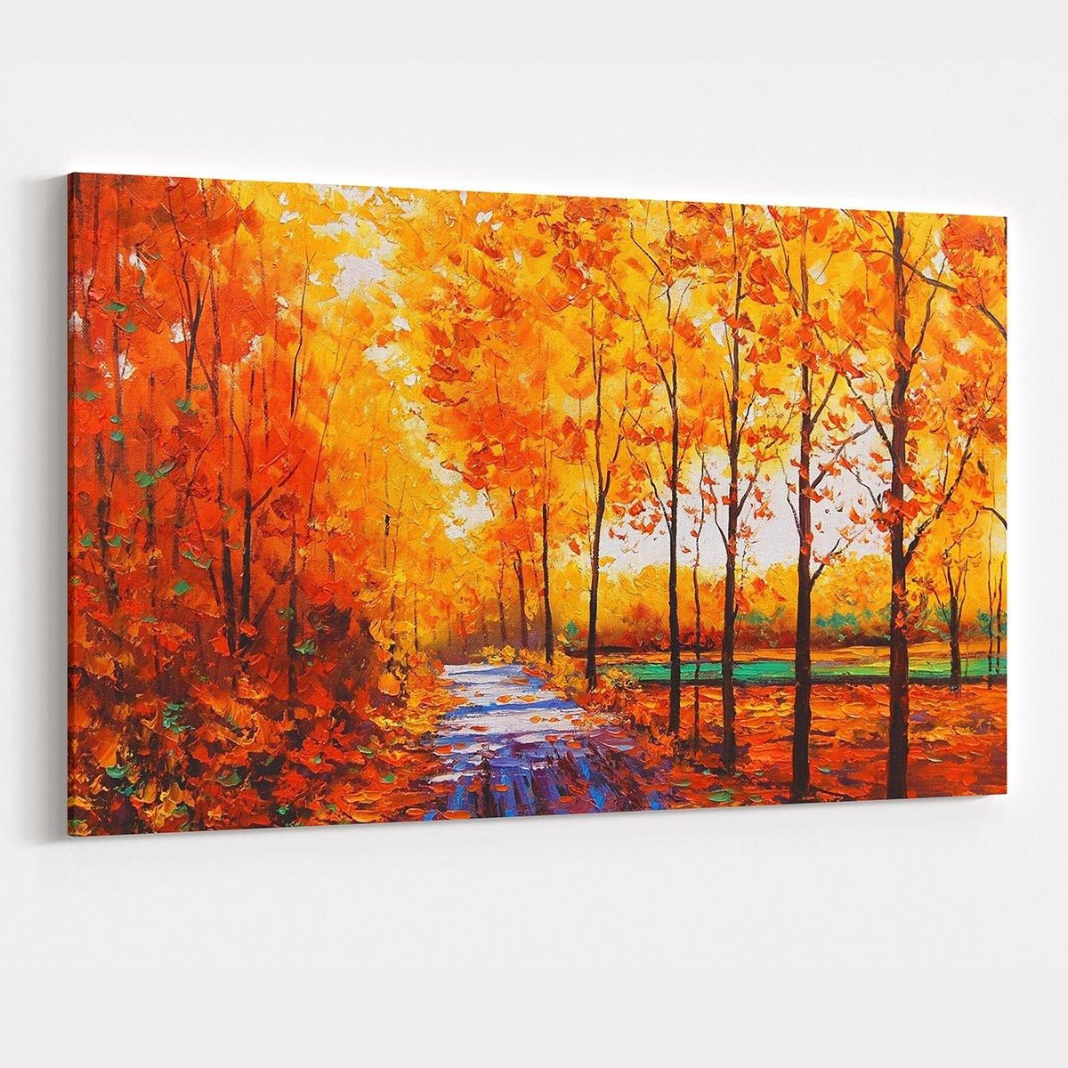 Yağlı Boya Sonbahar Kanvas Tablo