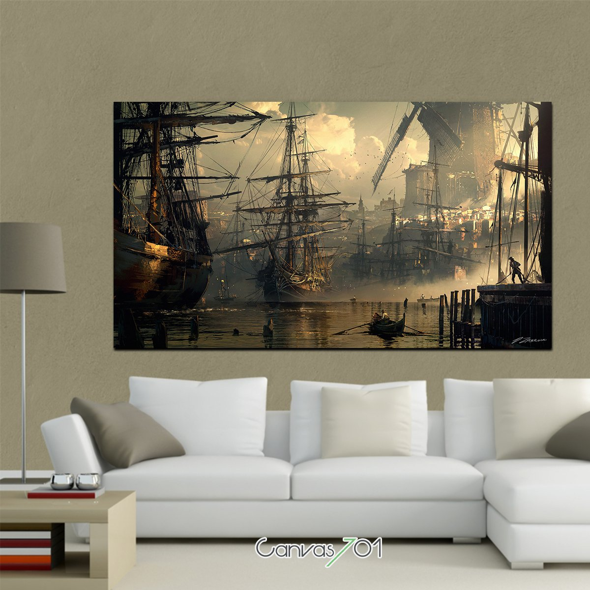 Yağlı Boya Yelkenki Gemiler Kanvas Tablo