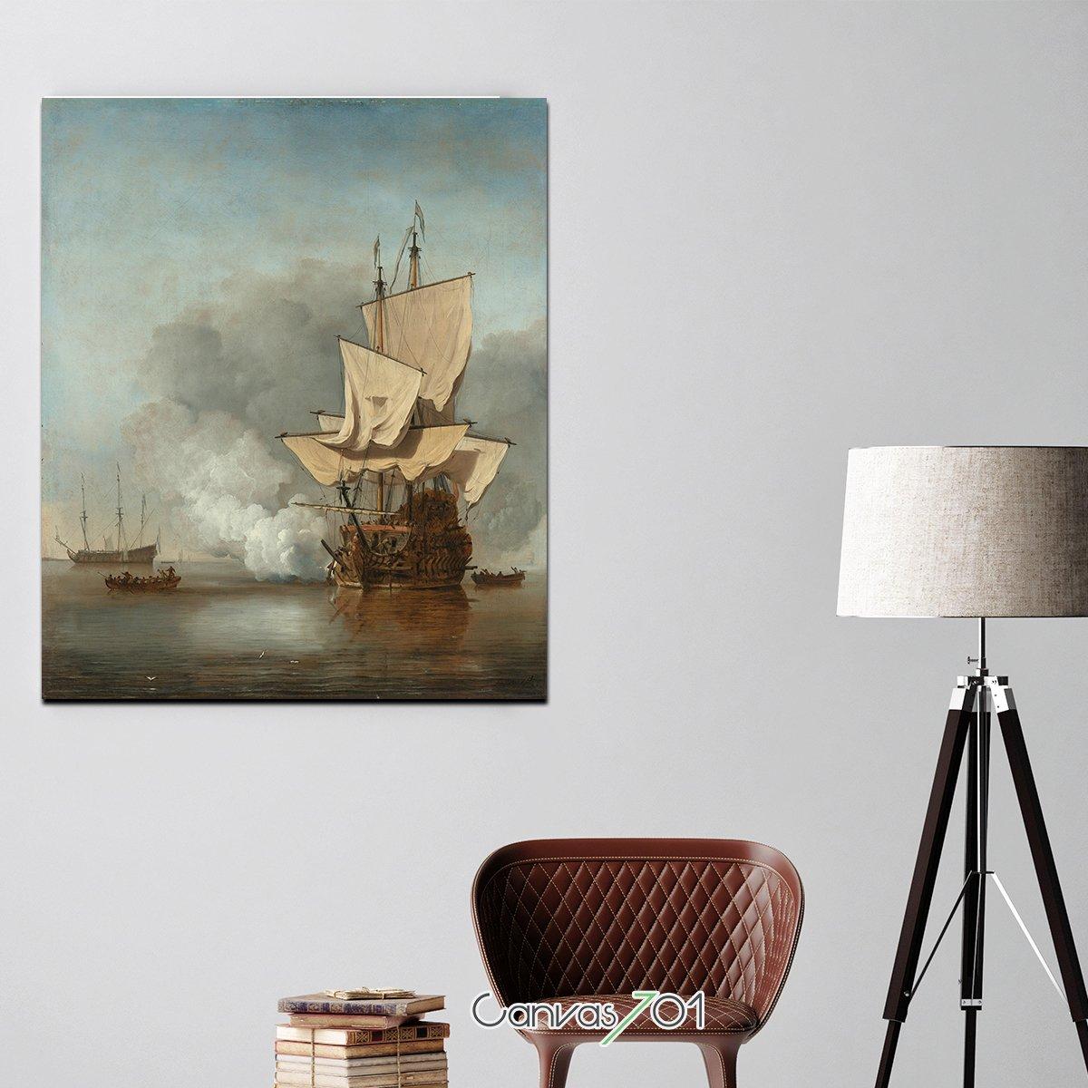 Yağlı Boya Yelkenli Kanvas Tablo