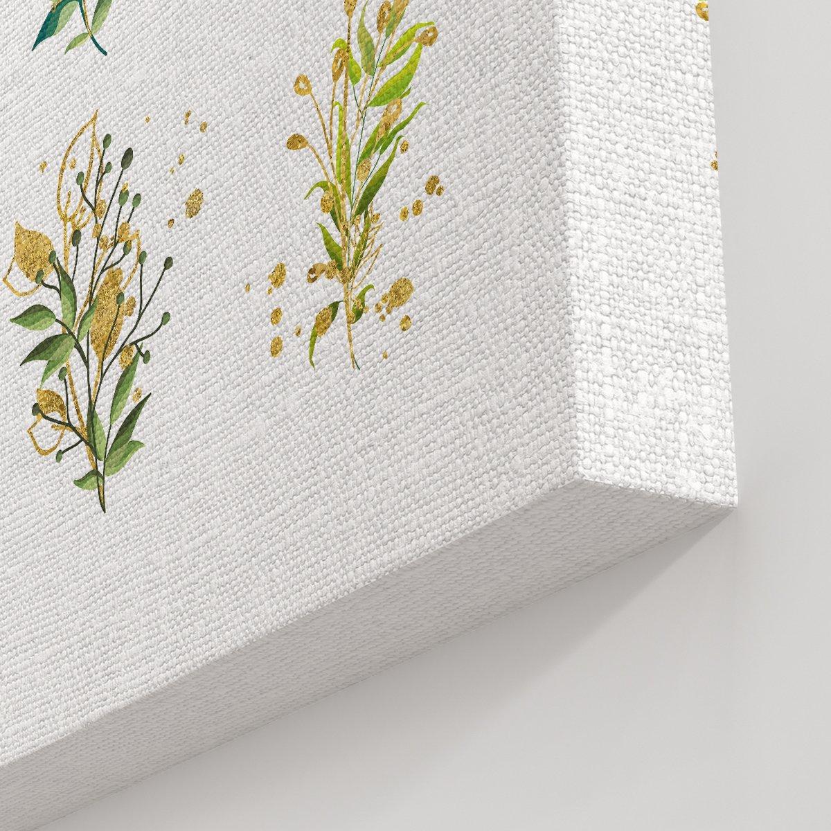 Çoklu Çiçek Kanvas Tablo