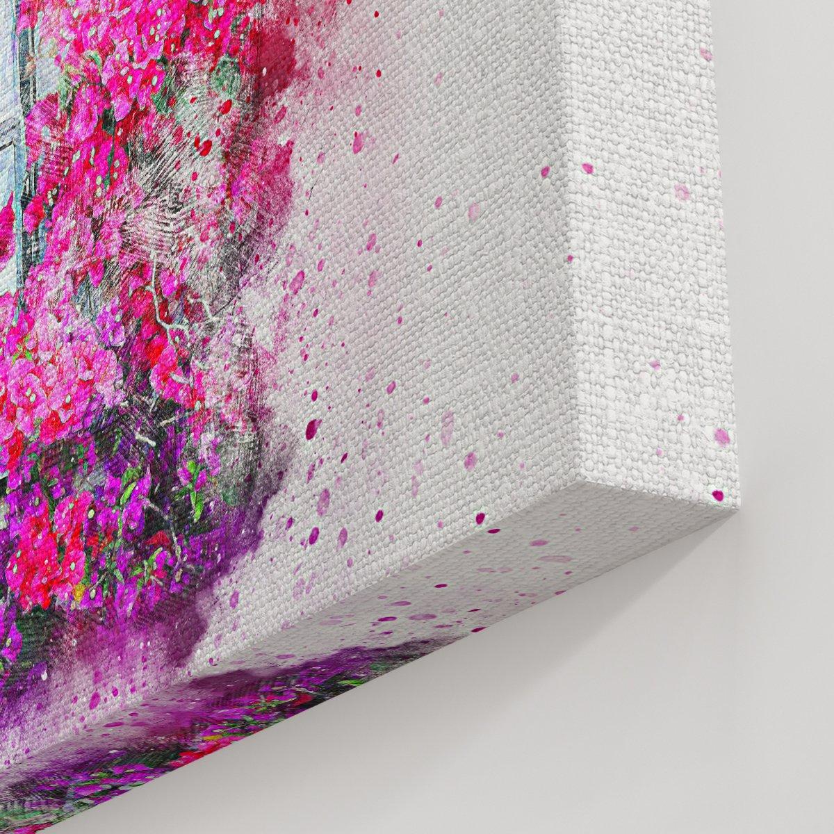 Pembe Çoklu Çiçekler Kanvas Tablo