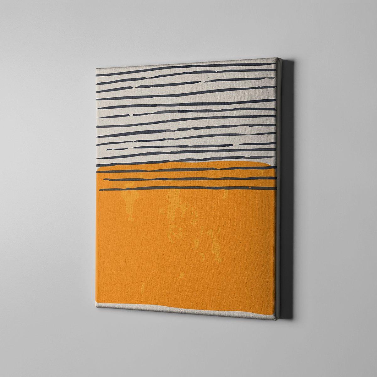 Renkli Şekiller Kanvas Tablo