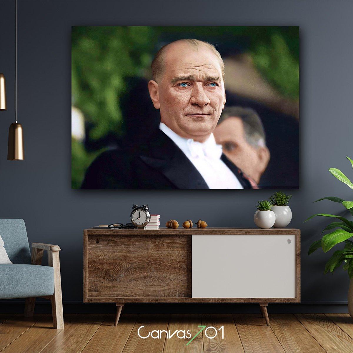 Yüksek Çözünürlüklü Atatürk Kanvas Tablo